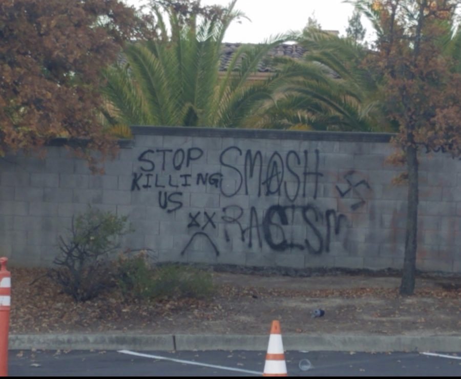 Live Coverage: Spray paint graffiti appears in school parking lot