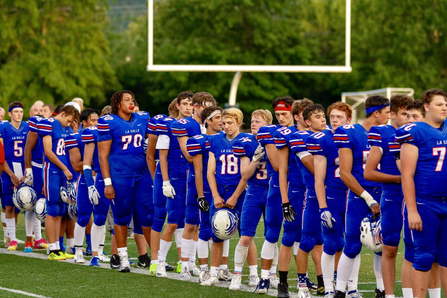 This year La Salle's varsity football team consisted of 51 players.