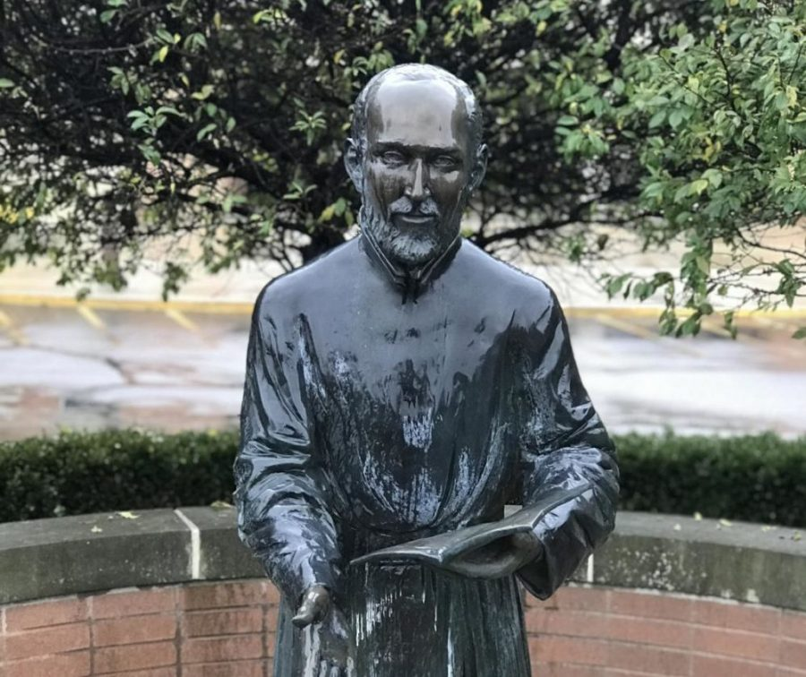 St.+Ignatius+statue+from+Brebeuf+Jesuit+grounds.%0APhoto+Credit%3A+Meredyth+Jones+%2719