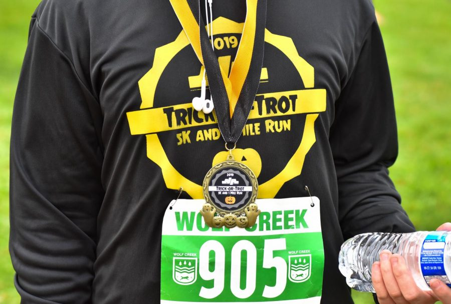 Over 500 runners competed in the either the 5k or 1-mile 2019 Trick or Trot race last weekend.