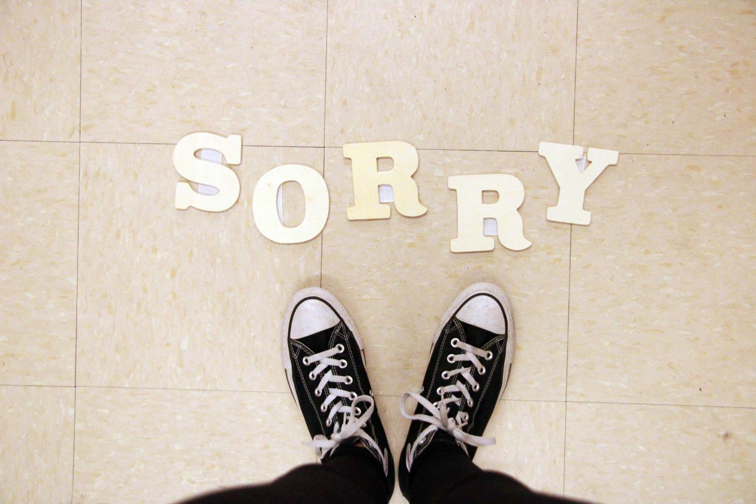Many people have become so accustomed to apologizing for the smallest things; it's become a reflex.