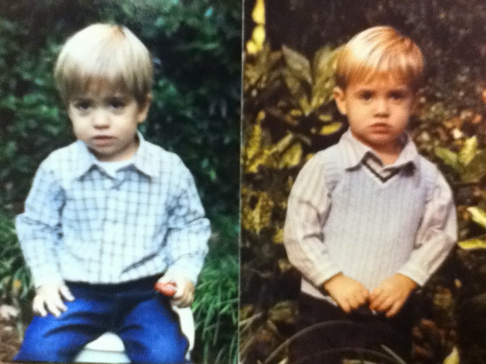 Elliot Willner (right) and his brother Miles (left) at the same age.
