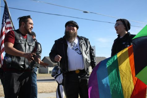 Counter-Protesters Rally to Support LGBTQ+ Students Against Hate Group