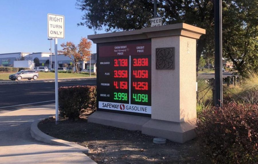Gas stations in community list higher prices