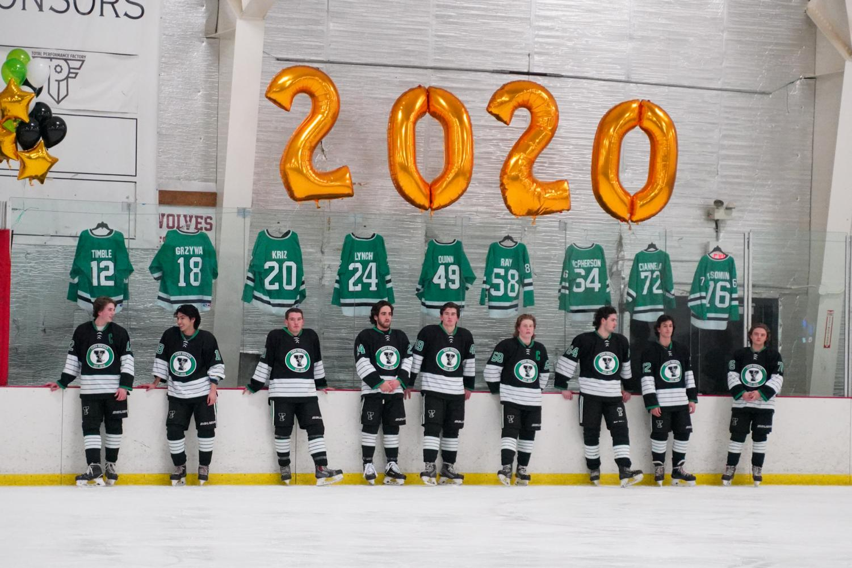 York Hockey celebrates 50 years at senior night