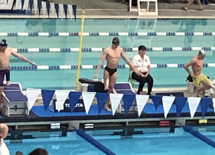 Junior+Thomas+Watry+gets+ready+to+swim+at+a+competition+in+Texas.+Watry+swam+in+multiple+national+competitions+held+across+the+country%2C+including+North+Dakota%2C+Virginia+and+Oklahoma.