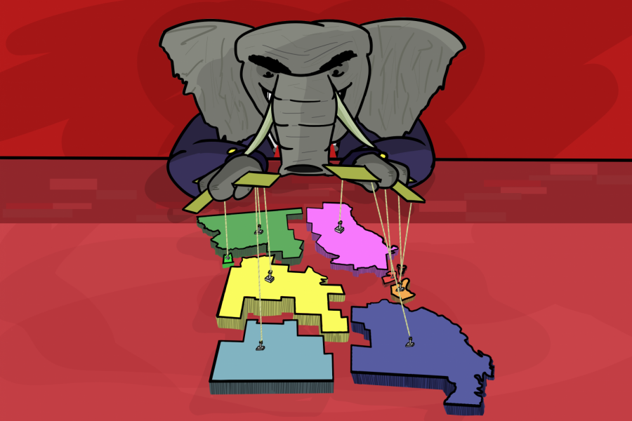 The+Republican+Party+has+thoroughly+gerrymandered+several+states%2C+including+Missouri%2C+to+gain+an+advantage+in+elections.