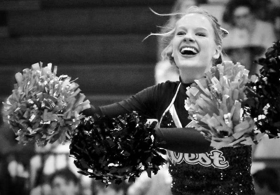"As a junior, senior Natalie Larsen decided to try the poms team. Joining the team gave her the opportunity to perform more often. ""[My dancing] hasn't been anything performance based for a while since poms, which I think is fine,"" Larsen said. ""I miss the vindication of performing, but honestly, I don't miss performing. It's that respect as a dancer that I miss."""