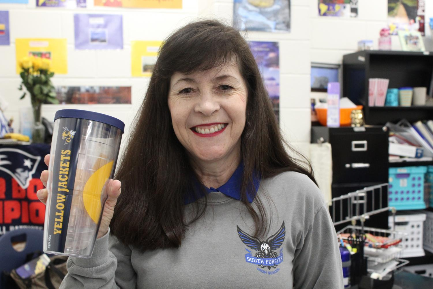 Georgia Tech. Doctora Green representing her Georgia Tech mug after her student got an early acceptance into the college. She always had a special place in her heart for the college.