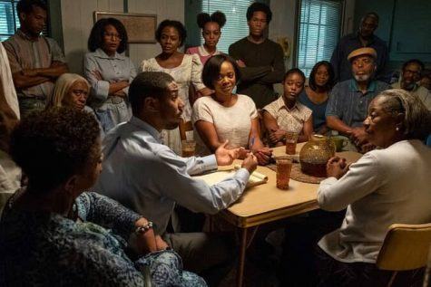 Micheal B. Jordan's (Bryan Stevenson) stunning performance is portrayed in a scene at Walter McMillan's (Jamie Foxx) home surrounded by McMillan's close family and friends as a part of the fight to win the case and justice for McMillan and his family. Foxx's passion here portrays the emotion that is carried out through the entire film as well as shows the close bonds the characters form and discover within the film.