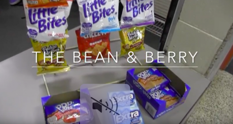 The Bean & Berry offers regular and flavored coffee and lemonade along with a variety of snacks.