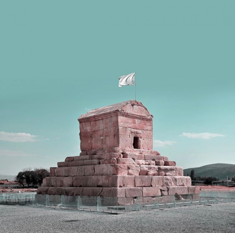 One+of+the+great+historical+sites+in+Iran+that+President+Trump+threatened+to+bomb%3A+the+tomb+of+Cyrus+the+Great%2C+built+in+sixth+century+B.C.%2C+waving+a+white+flag+signifying+a+surrender+or+truce.