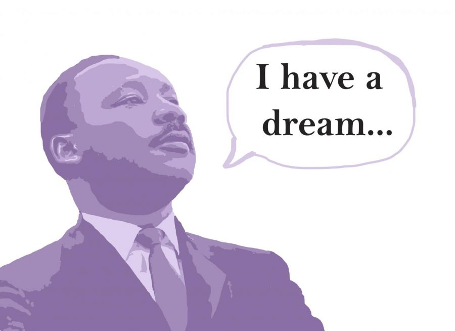 Photo+illustration+of+Dr.+Martin+Luther+King+Jr.+giving+his+%22I+have+a+Dream+Speech.%22