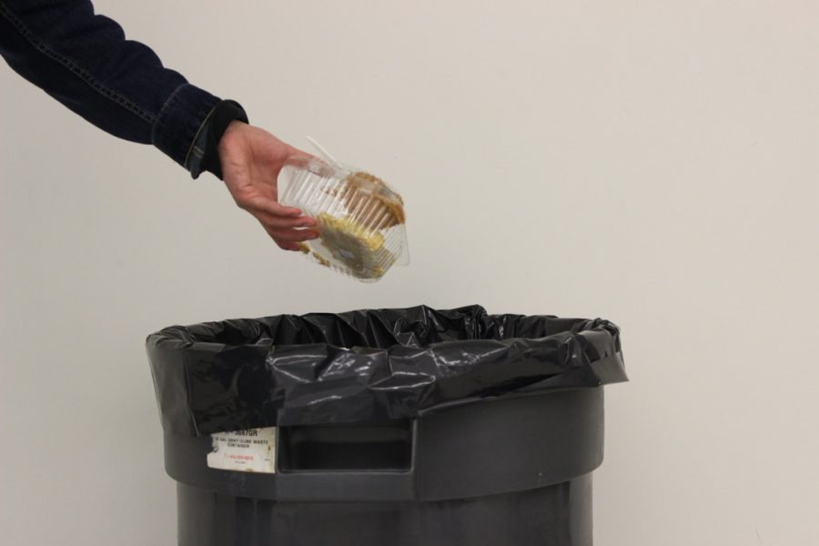 Food waste litters Dougherty halls