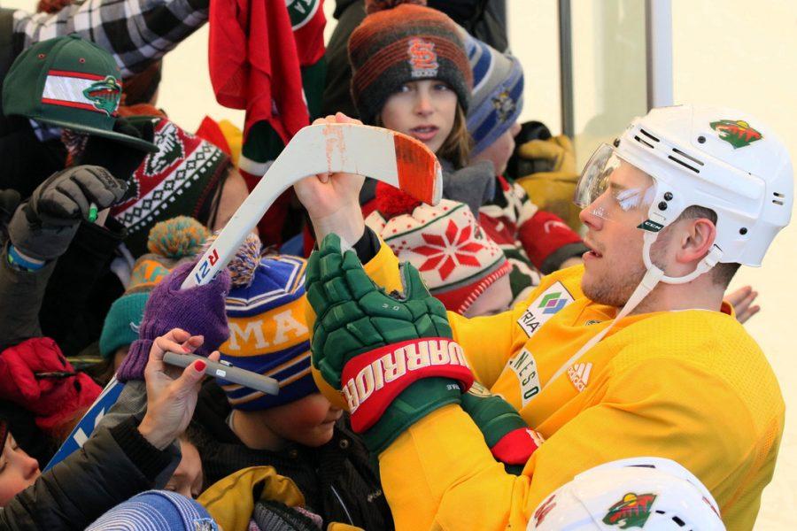 Minnesota hockey team plays at home arena
