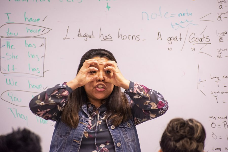 Photo Essay: Colvin makes language learning fun
