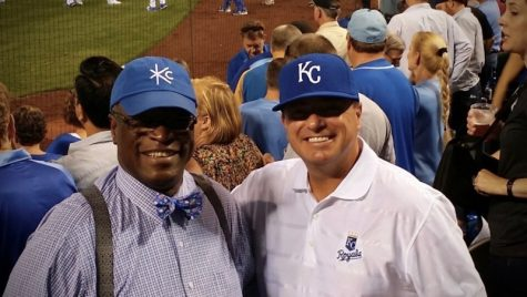 Troy Stremming attends a Royals game with former Kansas City, Mo. mayor Sylvester James.