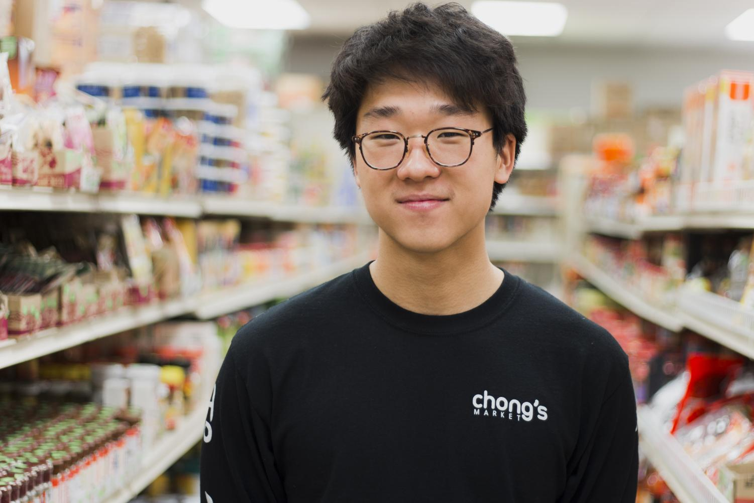 Chris Kim '20 created merchandise for his family's grocery story, Chong's Market.
