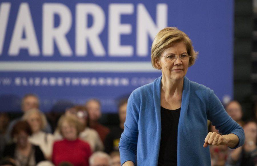Elizabeth Warren at West days before Iowa caucus
