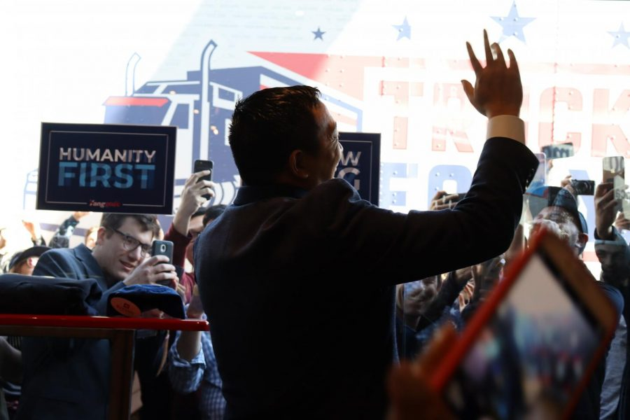 Politics meets streetwear as presidential candidate Andrew Yang comes to Fairfax