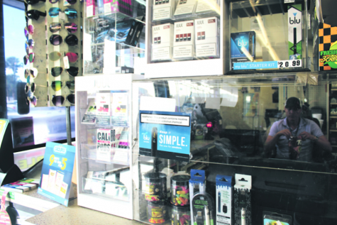 A vape display at Kwik Stop on Florida and Hanna avenues.