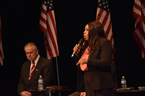 At a forum in Washington, Ill., senatorial candidate Peggy Hubbard made claims of bringing a firearm into Hinsdale Central. She later retracted her statements.