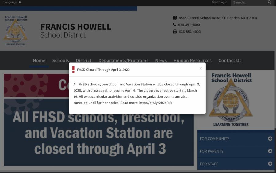 FHSD Cancels School Amid COVID-19 Concerns