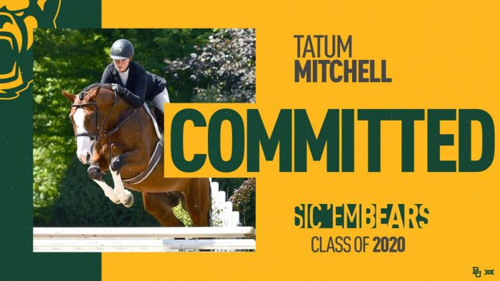 Baylor bound: Equestrian Tatum Mitchell commits to division I university