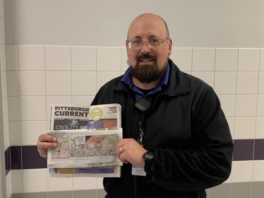 Security chief makes mark in the comics world