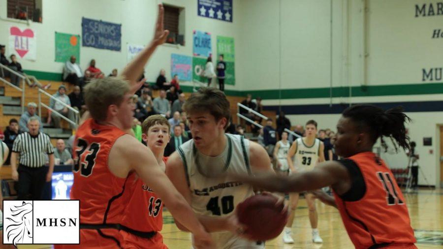 "MHSNews   Boys Varsity Basketball Earns ""Josh Merz Night"" Win"