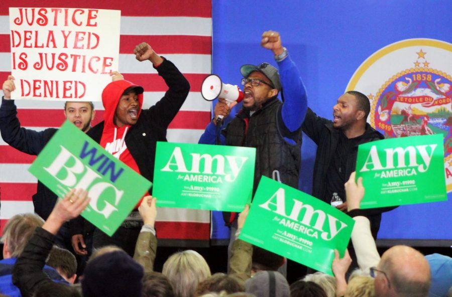 Minnesota Sen. Amy Klobuchar rally derailed by protestors