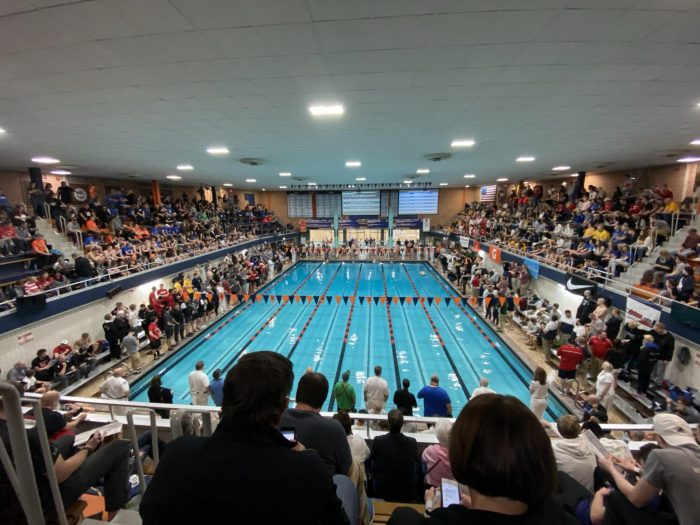 Leinart reigns supreme: Legally blind swimmer wins state, breaks records
