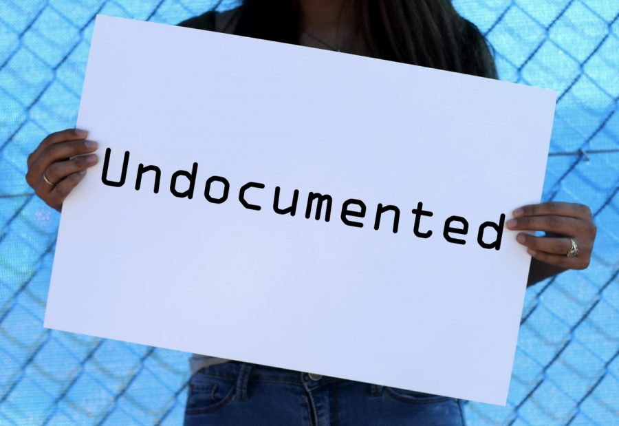 Lin+holds+a+sign+with+the+word+%22undocumented%22+on+it.+