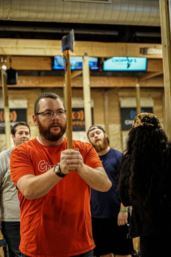 """It's basically darts on steroids"": Axe throwing with Mr. Bradley"