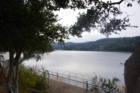 The San Andreas Fault goes through Crystal Springs Reservoir in Belmont, California.