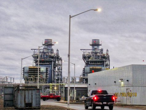 The Calpine Russel City Energy Center in San Leandro is a natural gas-fired power station.