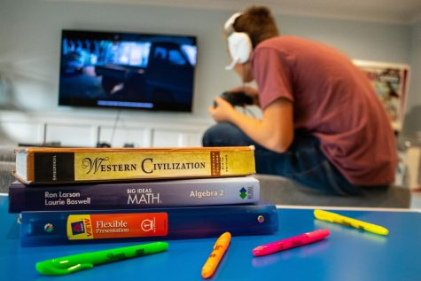 Many students procrastinate on their work for more fun and appealing alternatives.