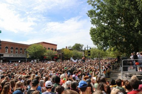 Greta Thunberg came to Iowa City in October and over 3,000 gathered to hear her and the other Iowa City climate strikers speak