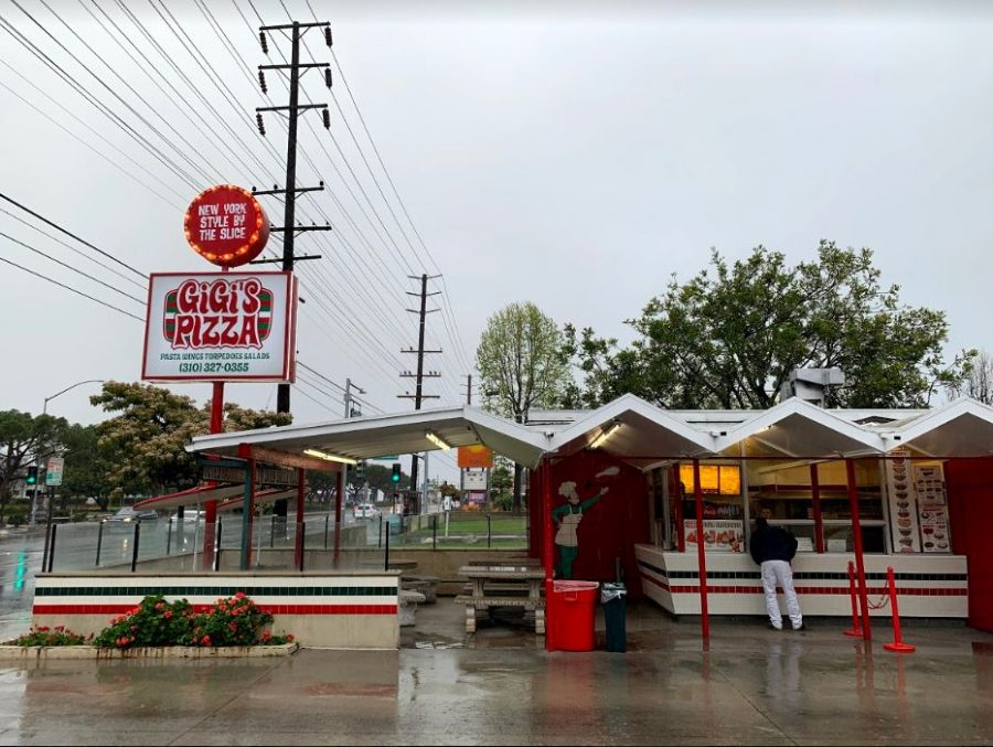 GiGi's Pizza is located across the street from El Camino College. The popular pizza stop has seen a decline in revenue, as have other businesses in the area, ever since in-person lectures moved online due to coronavirus concerns. Stephanie Choi/The Union