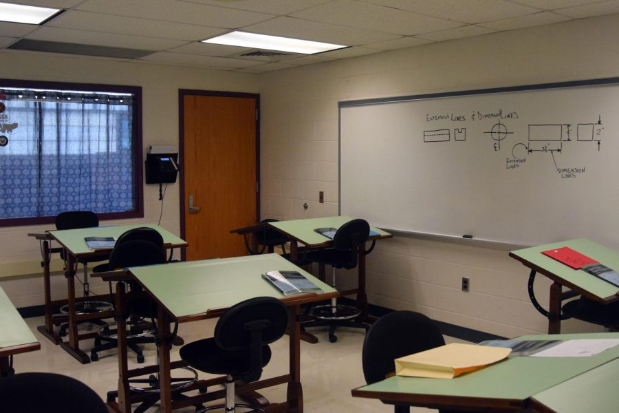 The+classrooms+at+TAHS+are+empty+but+the+teachers+and+students+will+be+back+to+work+soon
