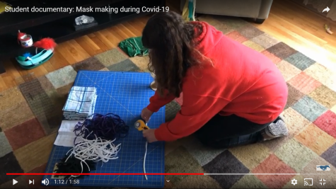 Andrew Calek and his family make masks during Covid-19 for the community.