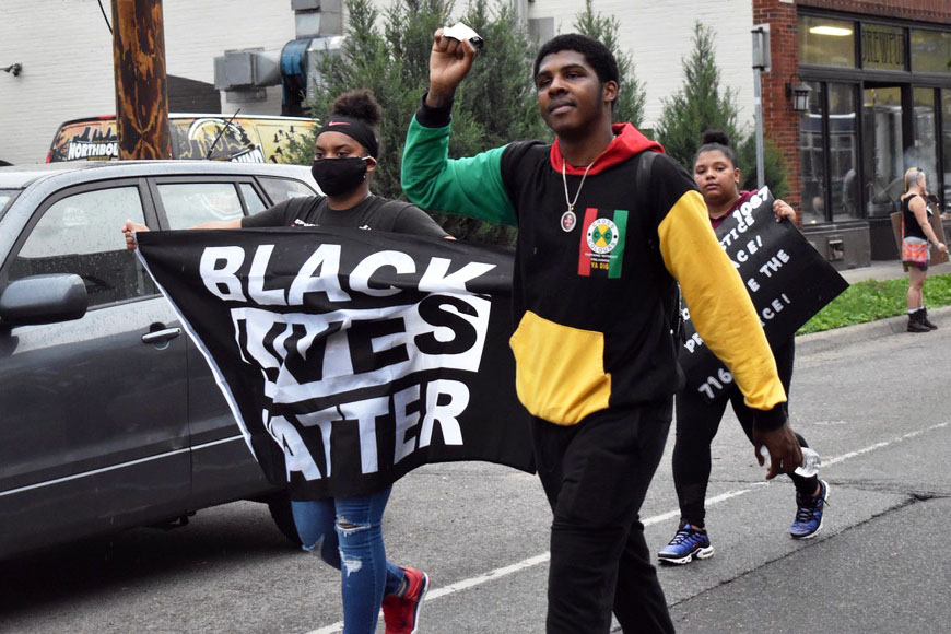 'I can't breathe': protestors unite against police violence