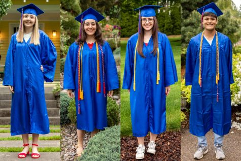 Franny Bengtson, Grace Elkhal, Ashley Smith, and Lucas Wobig are this year's valedictorians and salutatorian.
