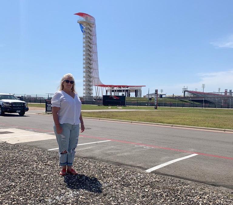 Since she was little, Adamson has felt need for F1 speed