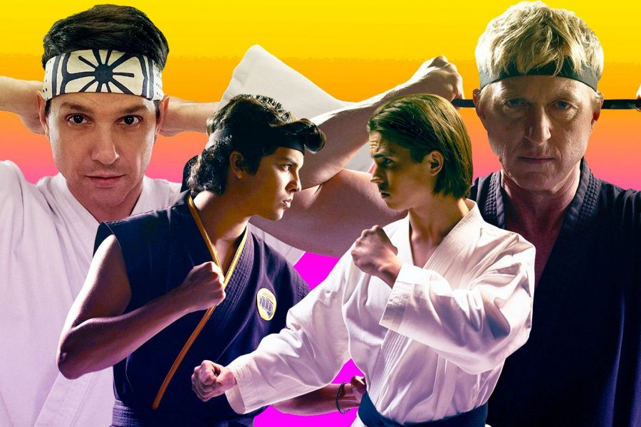 A+promotional+image+from+Youtube+original+series+%22Cobra+Kai%2C%22+which+was+re-released+on+Netflix+this+month.+The+show+reframes+the+original+%22Karate+Kid%22+story%2C+reversing+the+black-and-white+ideals+of+privilege+and+morality.+