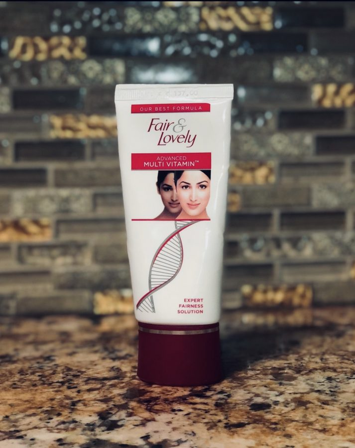 A photo of the fair & lovely cream, a commonly used skin lightening product within the brown community.