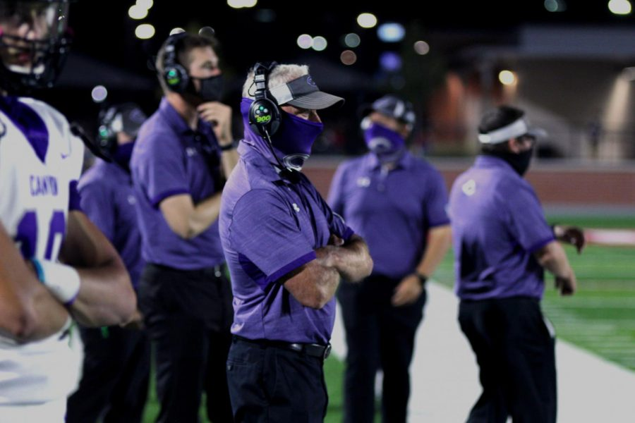 Coach+Bryant+claims+150th+win+as+head+coach+at+Canyon+High.+The+%25237+ranked+Eagles+defeated+Midland+Greenwood+48-0+Friday%2C+Sept.+25+at+Happy+State+Bank+Stadium.
