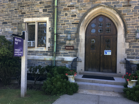 The front door of Masters Hall will remain closed for the start of the 2020-2021 school year as students will be learning remotely for at least the month of September. Members of the Masters community have mixed reactions to the school's decision to begin online.