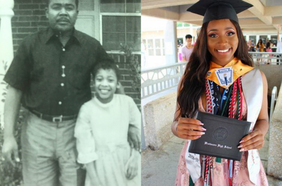 Side-by-side+photos+of+Brenda+Palmer+and+Joy+Okpoko+during+their+school+days.