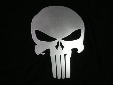 The symbol of the Punisher often used for Blue Lives Matter.